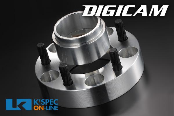 ニッサン・スズキ・スバル車に!ツライチセッティングにデジキャンの人気商品!優れた強度を発揮する鍛造成形 DIGICAM ワイドトレッドスペーサー&ハブリングセット P.C.D.114.3-5H-30mm(P1.25)