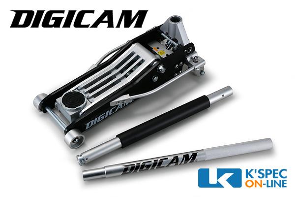 パワフルなデュアルポンプ仕様 ロングハンドル 最低位が低いので軽自動車 コンパクトカーにも最適_ DIGICAM 情熱セール オールアルミニウムフロアジャッキ 3.0t 在庫あり