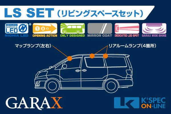 【10系アルファードハイブリッド】GARAX ハイブリッドLEDルームランプ LSセット