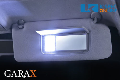 ギャラクス人気LEDサンバイザーライト 一部予約 ヴェロッサ 30セルシオ 17クラウンに バニティミラーに超高輝度LEDで明るい車内に LEDバニティランプ トヨタ汎用 Bタイプ お得クーポン発行中 GARAX _