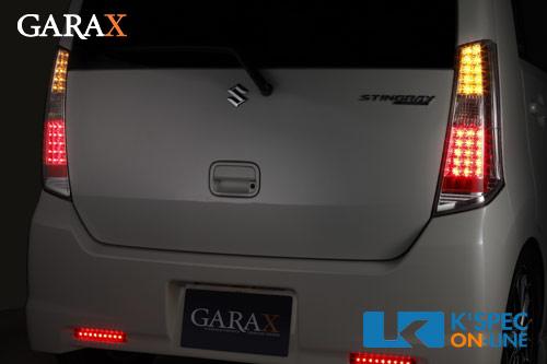 [販売終了]【MH23SワゴンR/スティングレー】GARAX LEDテールランプキット クリア/クローム