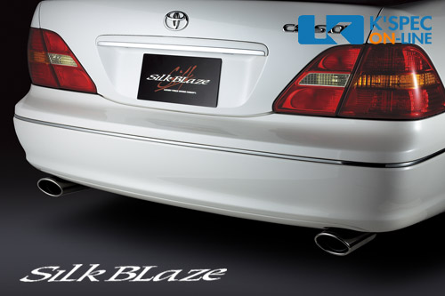 SilkBlaze マフラーカッターL/Rセット【ブラック/オーバル】30系セルシオ前期