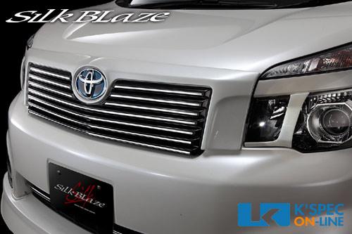 SilkBlaze フロントグリルVer.2/トヨタマーク付【未塗装】70系ヴォクシーZS/Z後期[代引き/後払い不可]