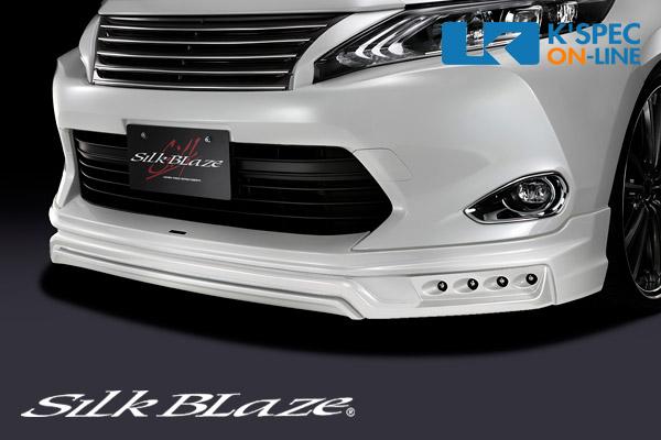 トヨタ【60系ハリアー 前期】SilkBlaze フロントスポイラー【未塗装】/デイライトなし[代引き/後払い不可]