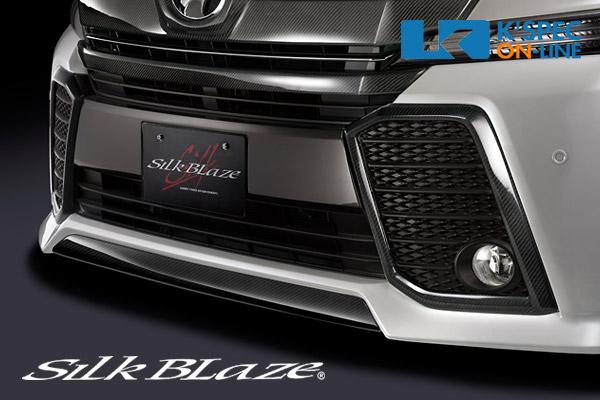 トヨタ【30系ヴェルファイア 前期】SilkBlaze フォグランプガーニッシュトリム【WETカーボン】[代引き/後払い不可]