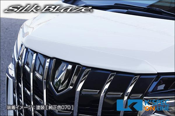 トヨタ【30系アルファード 後期】SilkBlaze フードトップモール【未塗装】[代引き/後払い不可]