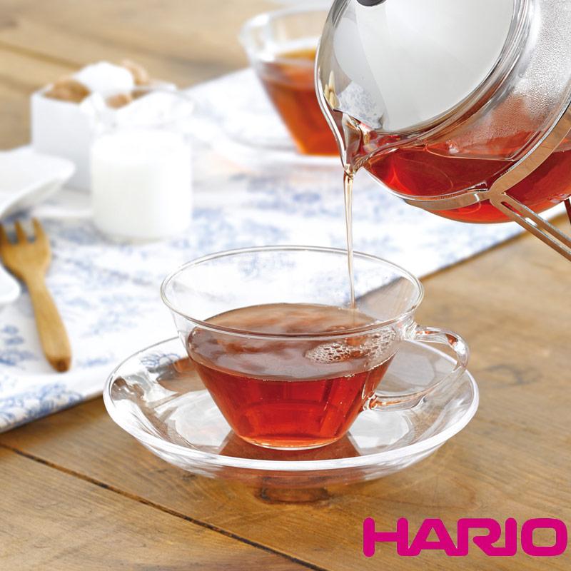 日本製 耐熱カップでスタイリッシュに HARIO ハリオ 耐熱ガラス カップ 爆安プライス ソーサー セット CSW-1T おしゃれ 北欧風 食器洗浄機対応 オリジナル ワイド 熱湯対応 可愛い 電子レンジ対応