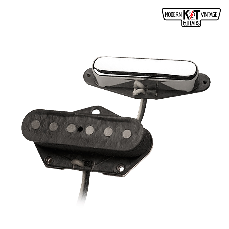 K&T T51セット《VINTAGE COIL使用》《エレキギター用 ピックアップ/テレキャスター/フロントカバー付》【全品送料・代引手数料無料!】