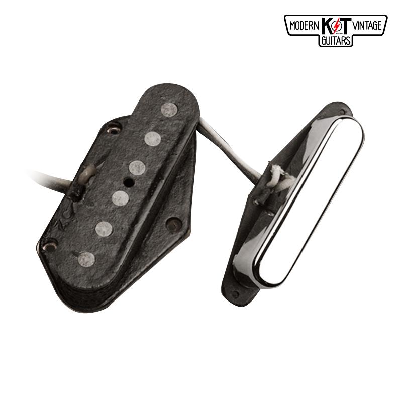 K&T T52セット《VINTAGE COIL使用》《エレキギター用 ピックアップ/テレキャスター/フロントカバー付》【全品送料・代引手数料無料!】
