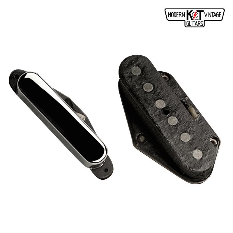 K&T T53セット《VINTAGE COIL使用》《エレキギター用 ピックアップ/テレキャスター/フロントカバー付》【全品送料・代引手数料無料!】