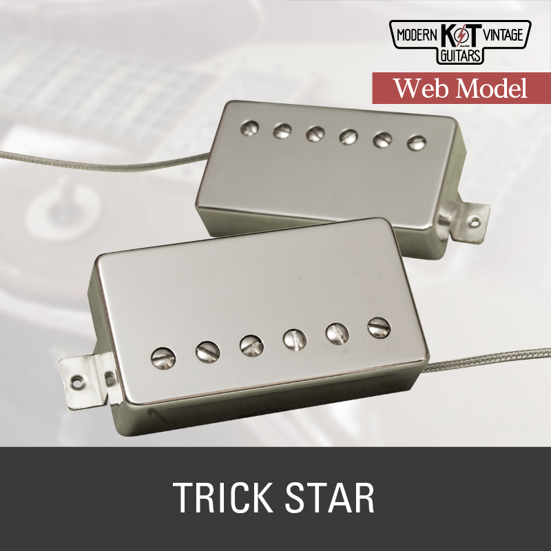 K&T【Web Model】TRICK STARセット《エレキギター用 ピックアップ/ハムバッカー/カバー付》【全品送料・代引手数料無料!】