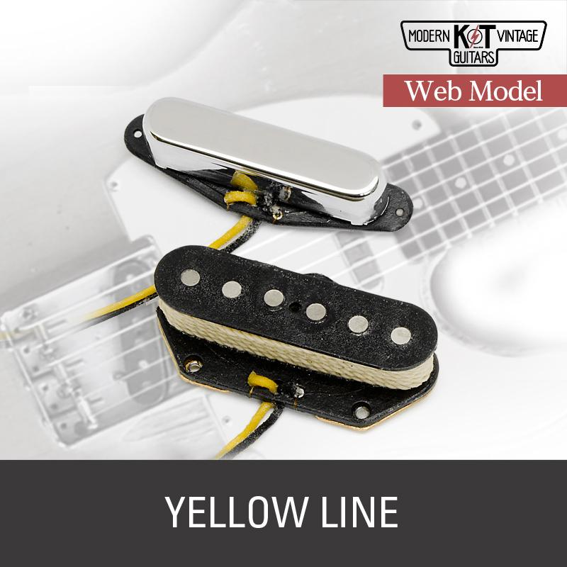 K&T【Web Model】YELLOW LINEセット《VINTAGE COIL使用》《エレキギター用 ピックアップ/テレキャスター/フロントカバー付》【全品送料・代引手数料無料!】