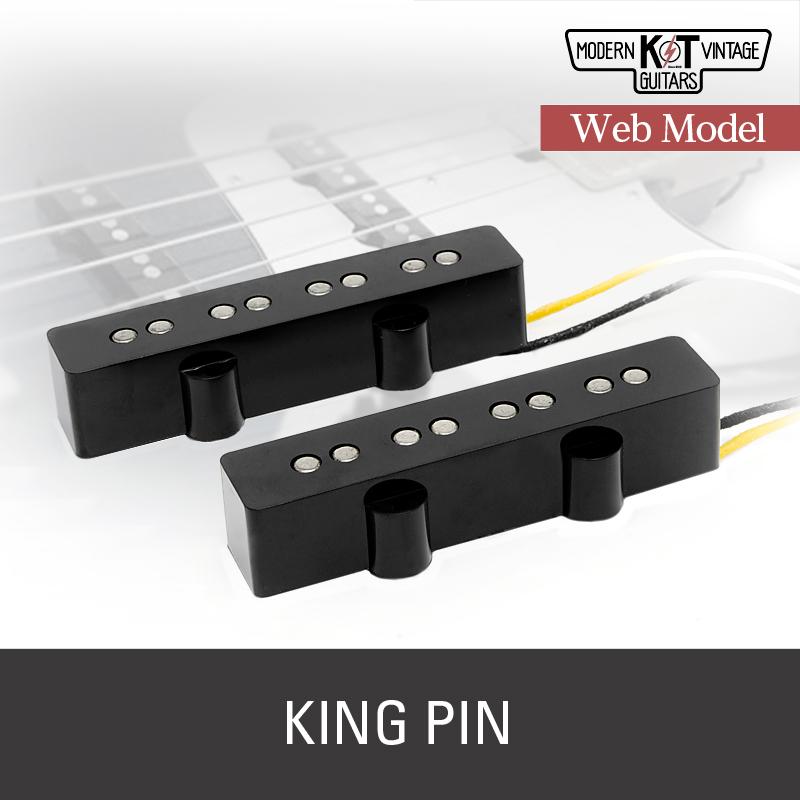 K&T【Web Model】KING PINセット《エレキベース用 ピックアップ/ジャズベース/カバー付》【全品送料・代引手数料無料!】