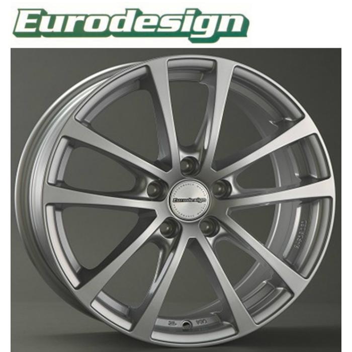 業者発送で送料無料 EuroDesign FOX-RF 17インチ7.0J+48 5H112(PCD112) 輸入車用ホイール4本セット VW ゴルフGOLF5(GTI),6(GTI&R),7(GTI) TOURAN/トゥーラン