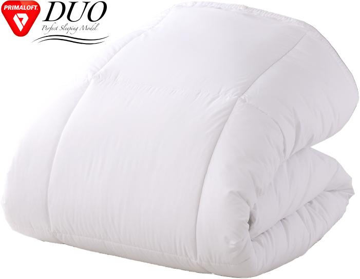 Primaloft プリマロフトデュオ クイーン 幅210×長さ210cm 正規品 【送料無料】 掛け布団 ふとん 寝具 睡眠 擬似羽毛 ベッド 温かい あたたかい 柔らかい やわらかい