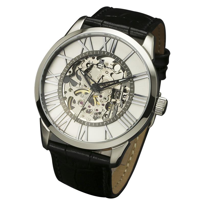Salavatore Marra (サルバトーレマーラ) SM16101-SSWH ウォッチ 【送料無料】 腕時計 メンズ レザーバンド お祝い 就職 誕生日 ギフト 父の日