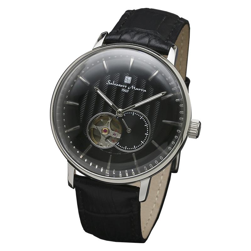 Salavatore Marra (サルバトーレマーラ) SM17114-SSBK 自動巻 ウォッチ 【送料無料】 腕時計 メンズ レザーバンド watches お祝い 誕生日 プレゼント ギフト