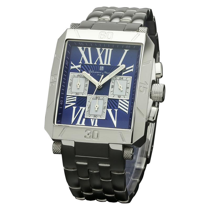 Salavatore Marra (サルバトーレマーラ) SM17117-SSBLSV クォーツ ウォッチ 【送料無料】 腕時計 メンズ メタル watches お祝い 誕生日 プレゼント ギフト