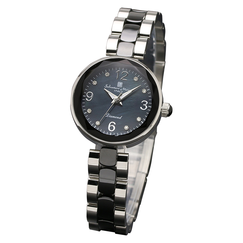 Salavatore Marra (サルバトーレマーラ) SM17153-SSBKA クォーツ ウォッチ 【送料無料】【アラビア数字】 腕時計 レディース メタル watches お祝い 誕生日 プレゼント ギフト 母の日