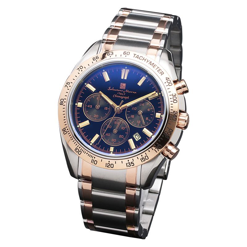 Salavatore Marra (サルバトーレマーラ) SM18106-SSBKPG メタルベルトウォッチ 【送料無料】 腕時計 メンズ お祝い 就職 誕生日 クリスマスプレゼント ギフト