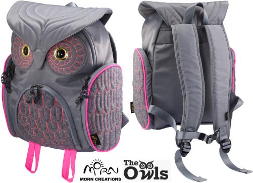 ミミズククラシックバックパック Mサイズ OW-312【送料無料】 MORN CREATIONS 梟 リュックサック カバン 鞄 バッグ ギフト プレゼント フクロウ ミミズク モーンクリエイションズ OW312(GRYF)