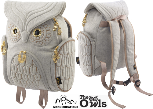 ミミズククラシック バックパック フランネル Mサイズ OW-322 【送料無料】 MORN CREATIONS 梟 リュックサック カバン 鞄 バッグ ギフト プレゼント フクロウ モーンクリエイションズ OW322
