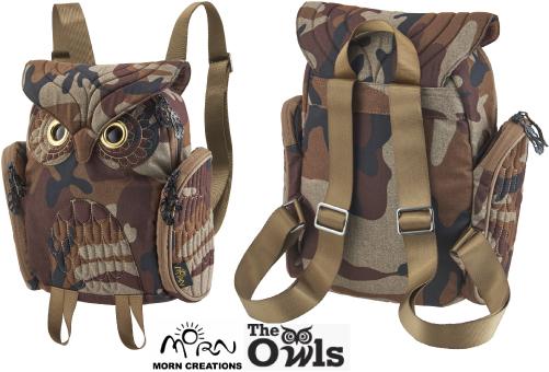 ミミズククラシック バックパック CAM 【送料無料】 モーンクリエイションズ OW346 MORN CREATIONS 梟 リュックサック カバン 鞄 バッグ ギフト プレゼント フクロウ OW-346