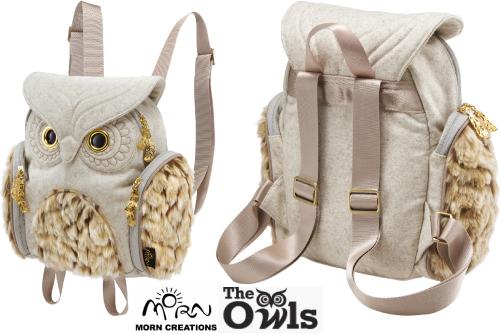 ミミズククラシック レディース フランネルファー OW356 【送料無料】 モーンクリエイションズ MORN CREATIONS 梟 リュックサック カバン 鞄 バッグ フクロウ ホワイト OW-356