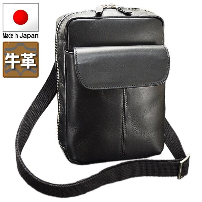 牛革ショルダーバッグ 【送料無料】 日本製 国産 メンズ フォーマル ブラック 小さめ 鞄 カバン ビジネスバッグ BLAZER CLUB 16423 ギフト お祝い クリスマスプレゼント