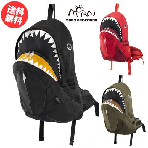 シャークバックパック レイン / モーンクリエイションズ【送料無料】 SK-228 ブラック グリーン レッド リュック カバン 鮫 サメ MORN CREATIONS