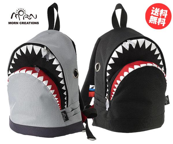 シャーク バックパック M 【送料無料】 SK-102 ブラック グレー リュック バッグ カバン 鮫 サメ モーンクリエイションズ MORN CREATIONS SK102