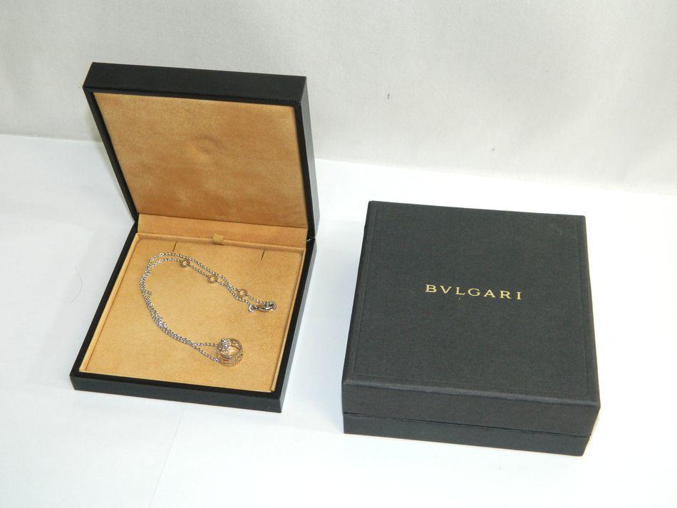 [中古] 送料無料 新品仕上げ BVLGARI ブルガリ パレンテシ オープンワーク ネックレス K18WG 750 ホワイトゴールド 美品 良品