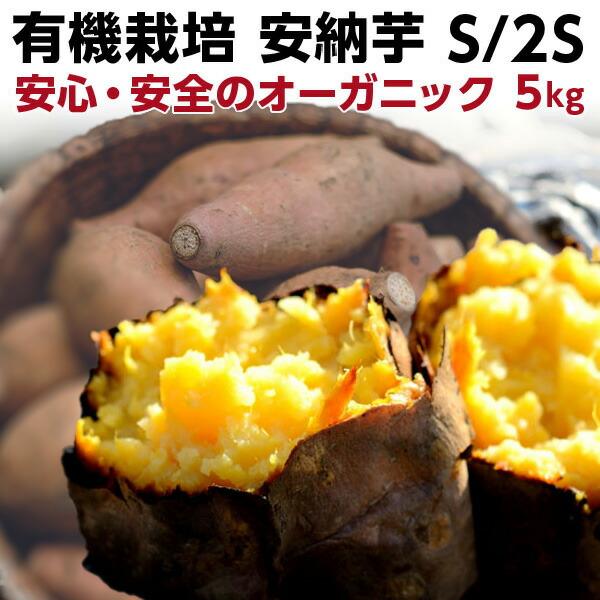 ポイント20倍 ギフト 安納芋 有機 プチ安納芋 安納いも あんのう芋 蜜芋 五島列島 オーガニック S/2Sサイズ 5kg