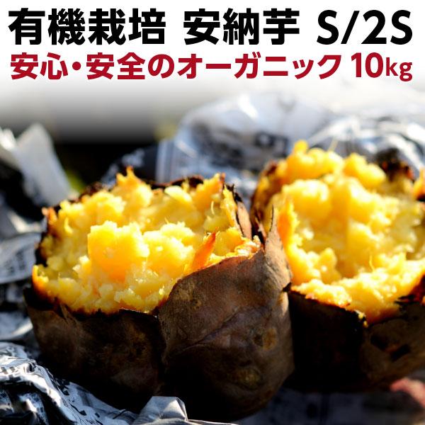 ポイント20倍 ギフト 安納芋 有機 プチ安納芋 安納いも あんのう芋 蜜芋 五島列島 オーガニック S/2Sサイズ 10kg