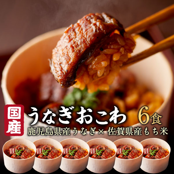 ギフト うなぎ おこわ ギフト 鰻 国産 高級 6食セット unagi プレゼント 送料無料 クール