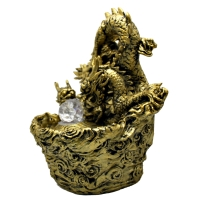 Interior fountains Dragon Interior fountain design fountains tabletop fountain LED light antique crafts fountain Japan garden Japanese fountain Interior miniature healing objet water resin craft wood ornaments wind water good luck cheap products