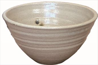 手洗鉢 黄瀬戸天紋 (小) 24×H16cm