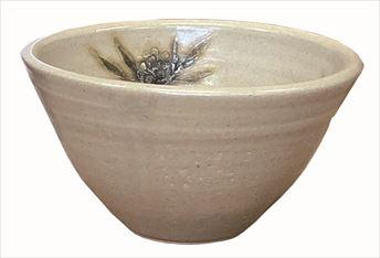 手洗鉢 黄瀬戸南天 (小) 24×H16cm