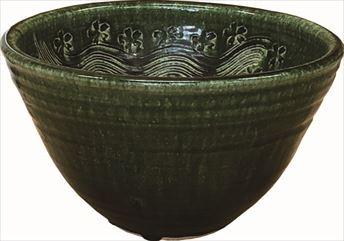 手洗鉢 織部彫刻 (小) 24×H16cm