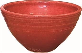 手洗鉢 赤ガラス (小) 24×H16cm