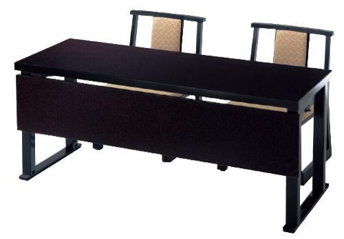 和洋兼用二人膳150×55×H62(32.5)cmメラミン八光うるみ(※大型家具扱送料別途見積となります)