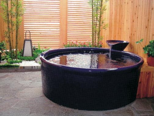 丸型陶器浴槽1200×H600mm  (送料55,000円は目安です別途見積となります)