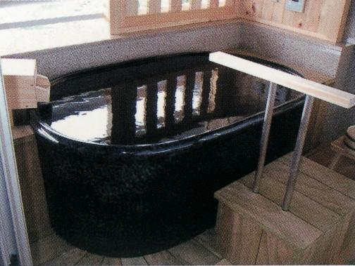 小判型陶器浴槽1400mm  (送料55,000円は目安です別途見積となります)