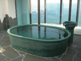 小判型陶器浴槽1600mm  (送料55,000円は目安です別途見積となります)