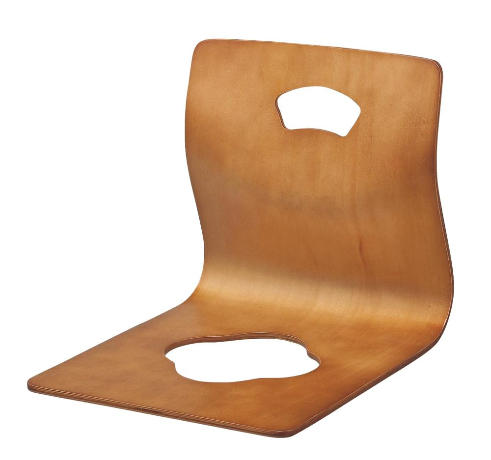 扇抜き 座椅子40×50×H38.5 ブラウン