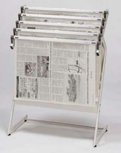 新聞架W59.5×33×H77cm スライドロック式 3本付