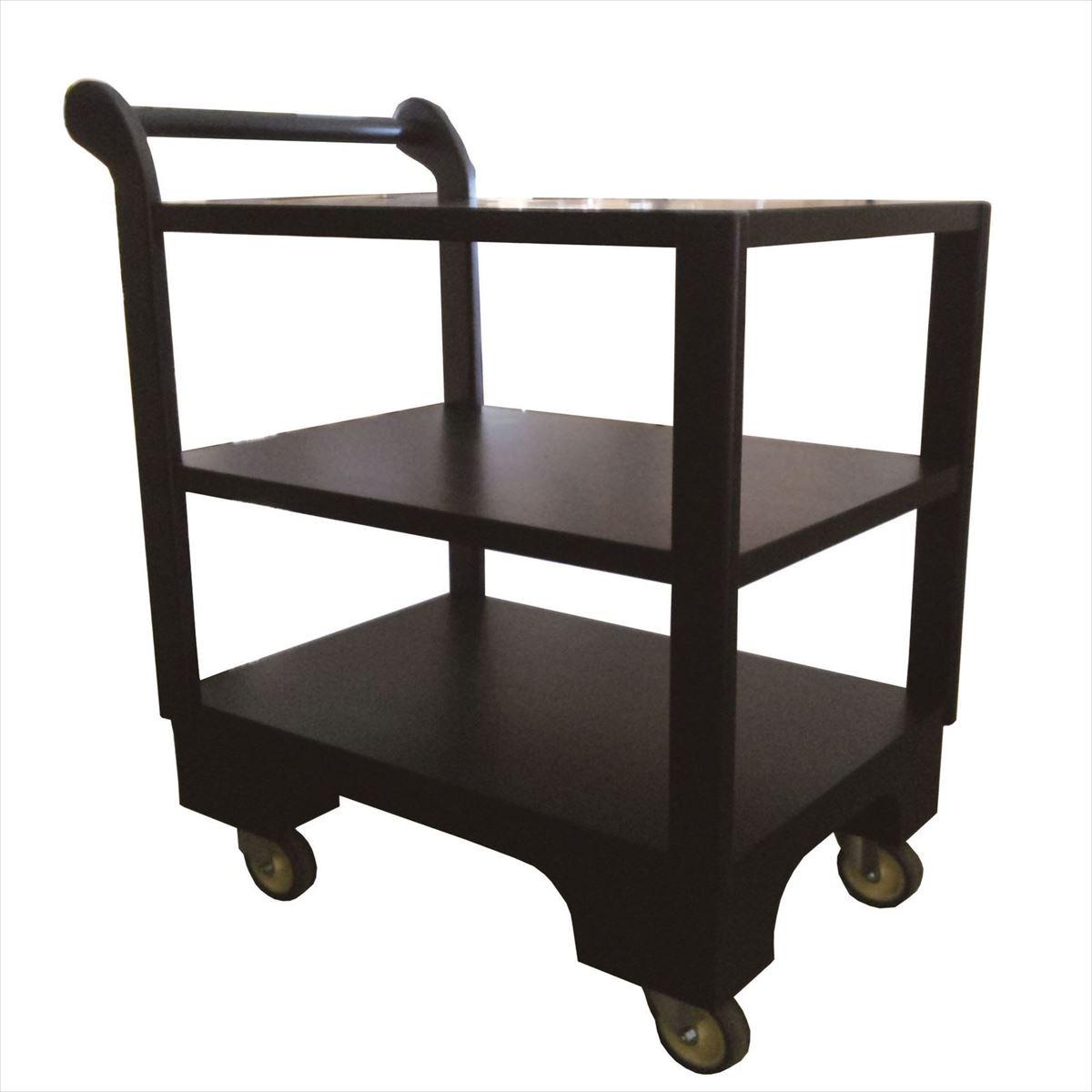 和風サービスワゴン45×86×81cm【旅館】【ホテル】【飲食店】【料亭】車輪が大きいので畳の上でも安定して配膳ができます。