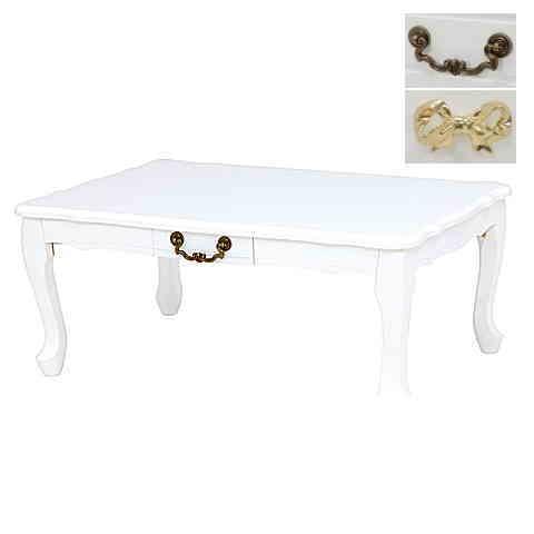 おしゃれな猫脚&引出付テーブル 折りたたみ式