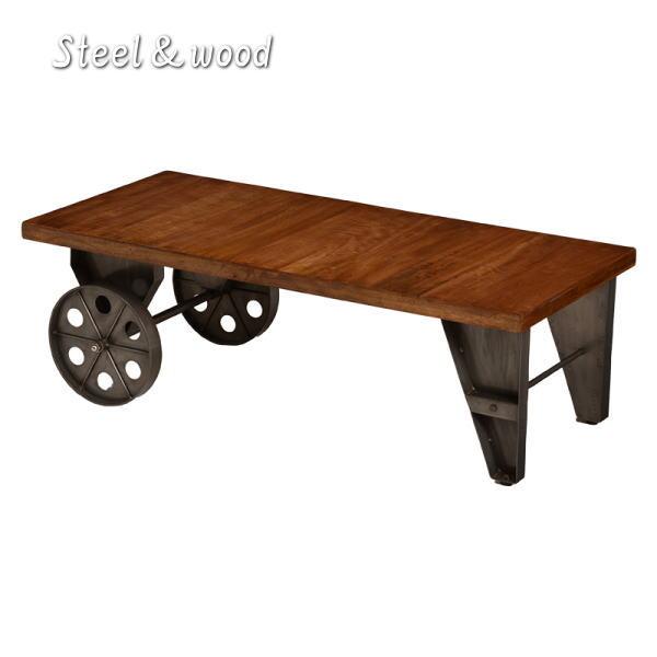 ウッド&アイアン ローテーブル