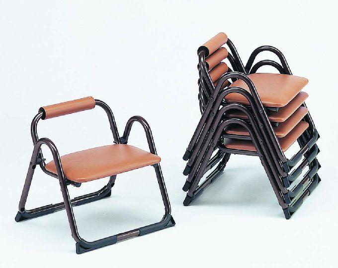 【アルミ製】 アルミチェアG.L-2【5脚セット】 寺院用椅子 本堂用 寺院 スツール 積み重ね スタッキング